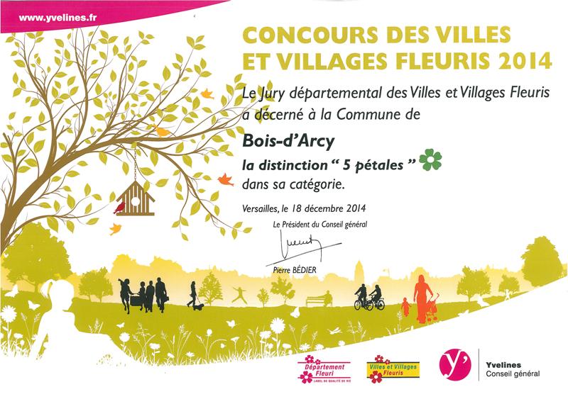 Ville de bois d 39 arcy espaces verts for Diplome espace vert