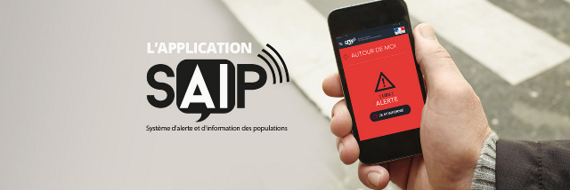 l'application d'alerte SAIP